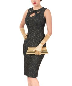 Look at this Navy & Gold Don't Cross Me Dress - Women & Plus on #zulily today!