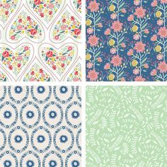 Here's some lovely free Folk Floral printable papers!