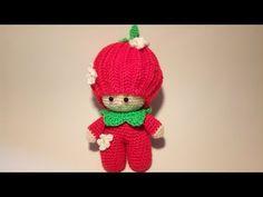 Bambola Fragolina Amigurumi Tutorial Muñeca Fresa Crochet -Doll Strawberry Crochet - YouTube