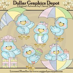 Tiny Tweets - Baby Shower - Clip Art - $1.00 : Dollar Graphics Depot, Quality Graphics ~ Discount Prices