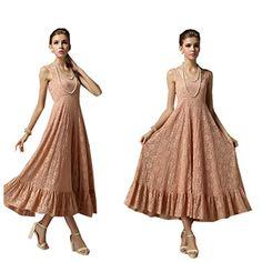Alralel Women Lace Strapped Waisted Ruffled Hem Fair Lady Fit Flare Dress L Pink Alralel http://www.amazon.com/dp/B00LOJZ4IY/ref=cm_sw_r_pi_dp_xxxhub1FV6TK3