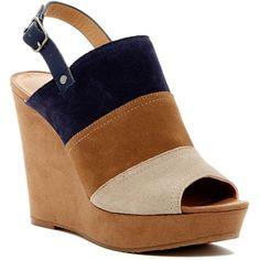 a7d378dc59c Lucky Brand Frescala Wedge Sandal ( 55) ❤ liked on Polyvore featuring shoes