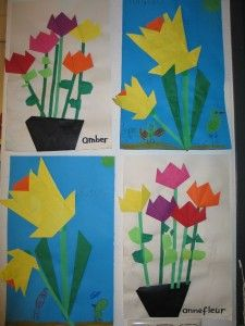 Paper Flower Craft For Kids Easy Origami