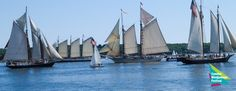 Friday, September 2 brings the launch of Camden's annual maritime celebration which features the largest gathering of schooners in the northeast.