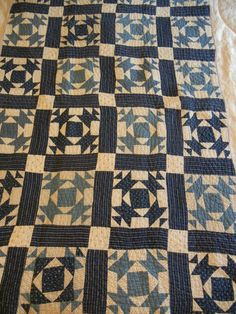 Antique indigo quilt.