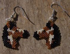 Painted Ponys Earrings Hand Made Seed Beaded by wolflady on Etsy