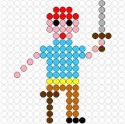 Kralenplank Matroos 2 Pirate Crafts, Eyfs, Cross Stitch Designs, Perler Beads, Kindergarten, Activities, School, Water, Carnival