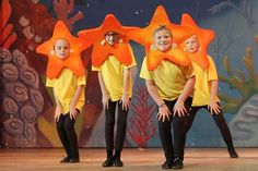 A cluster of bright star fish are among the many sea creatures featured in the Marion Palace Theatre's production of The Little Mermaid, Jr. which opens Friday, Oct. 11 at 7:30 pm, and runs Saturday, Oct. 12 at 7:30 pm, and Sunday, Oct. 13 at 2 pm. James Miller/The Marion Star