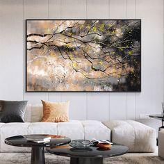 1 new message Tree Wall Art, Wall Art Decor, Types Of Art Styles, Black Tree, Yellow Leaves, Living Room Art, Abstract Wall Art, Canvas Wall Art, Canvas Ideas