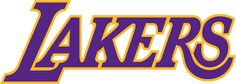 The Lakers logo consists of the team name, \