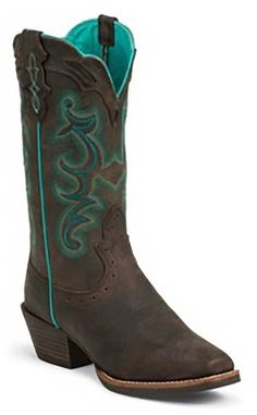 Justin Boots Justin Silver Collection Punchy Boot Style 12 Inch Women Boots SVL7312