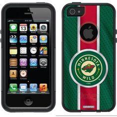 Minnesota Wild Jersey Stripe Design on OtterBox Commuter Series Case for Apple iPhone 5/5s