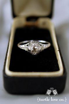 Turtle Love Co. - Vintage engagement rings  http://apracticalwedding.com/2012/07/turtle-love-cos-vintage-engagement-rings/