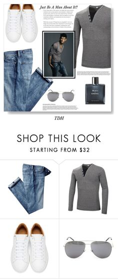 """Him"" by talvadh ❤ liked on Polyvore featuring 7 For All Mankind, Marc Jacobs, Yves Saint Laurent, Chanel, men's fashion and menswear"