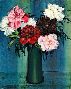 Jane Peterson  Peonies in a Green Vase   20th century