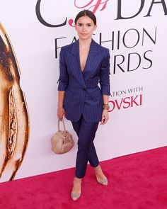 Pin for Later: Miroslava Duma Is the Fashion Force You'll Never Stop Following She's Walked the Red Carpet at the CFDA Awards Mira wore her Gabriela Hearst bag and Paul Andrew shoes.