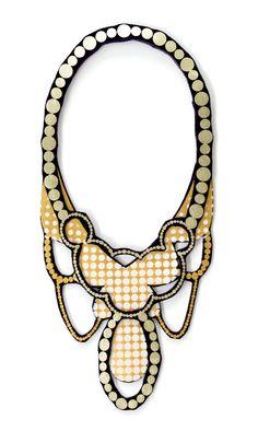 Victorian Dots by Uli #statementNecklace #textileJewellery