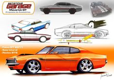Ford Mustang Eleanor, Ford Maverick, Car Drawings, Cool Cars, Hot Rods, Vehicle, School, Instagram, Design