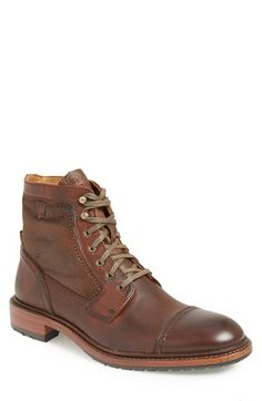 Trask 'Union' Shearling Cap Toe Boot (Men) available at #Nordstrom
