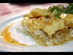 Pavo con leche de coco al curry y arroz basmati - YouTube