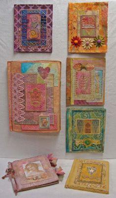 Fabric Art Journaling. LOVE this idea! Will make soon!