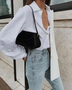 15 perfect white shirt outfit for today's fashion page 9 Urban Outfitters Outfit, Looks Style, Looks Cool, My Style, Curvy Style, Look Fashion, Autumn Fashion, Fashion Tips, Fashion Trends
