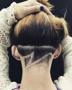 Cool undercut wave pattern for women