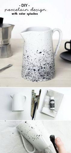 Un DIY muy fácil para los principiantes que quieren pintar porcelana  Yo hace tiempo qu...