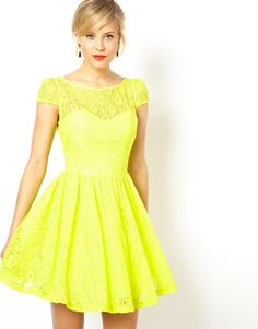 asos-yellow-lace-short-sleeved-skater-dress-product-1-16423195-0-907836468-normal.jpeg (870×1110)