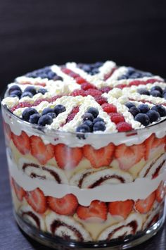 Jubilee trifle for a friend.