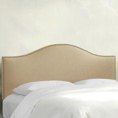 Brayden Studio Regil Upholstered Panel Headboard Size: Twin, Upholstery: Beige