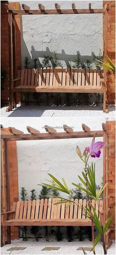 Shocking DIY Projects with Wood Pallets: Hence, finding with the easy and simple wood pallet projects might be a daunting task for most of the individuals, but as you would give. Wood Pallet Recycling, Pallet Crafts, Diy Wood Projects, Diy Pallet, Pallet Ideas, Pallet Garden Benches, Bed Frame With Drawers, Pallet Designs, Rack Design