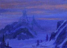 """Bavarian Dream"" By Harrison Ellenshaw - Original Acrylic on Canvas, 5 x 7.  #Disney #DisneyFineArt #HarrisonEllenshaw"