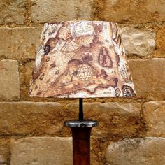 Sail Away Antique Look Sailing Map Neutral French Tapered Lightshade, fabulously sophisticated designs www.serendipityhomeinteriors.com