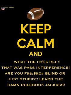 Keep Calm during football season?! Yeah Right!!