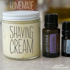 How to Make Homemade Shaving Cream- avoid razor burn with this fluffy, chemical-free shaving cream.