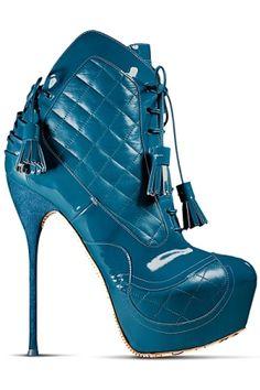John Galliano - Women's Shoes - 2012 Fall-Winter by douglas yang #PutDownYourPhone #Carde