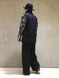 Yohji Yamamotoコーデ。 パンツはLui'sオリジナルの スーパードカンパンツ。 ちなみ