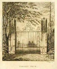 Morris:Garden Gate at Strawberry Hill African American Artist, Native American Art, American Artists, Garden Gates, Strawberry Hill House, Gothic Castle, Fantasy House, Art Museum, Art Gallery