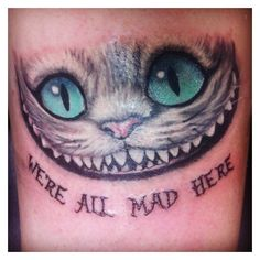 My new tattoo. Cheshire Cat from Tim Burton's Alice in wonderland. ❤ liked on Polyvore featuring accessories and burton