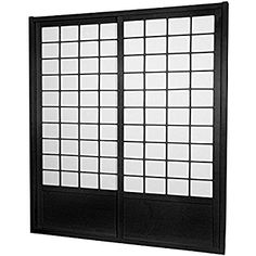Amazon.com: Oriental Furniture 7 ft. Tall Zen Shoji Sliding Door Kit - Black: Kitchen & Dining