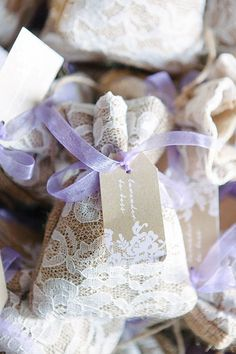 Romantic Portovenere Italy Destination Wedding, Lace Patches with Dried Lavender