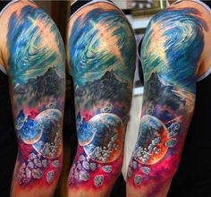Epic Space Tattoo