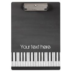 Nostalgic black chalkboard effect in this customizable piano keyboard design. #piano #chalkboard