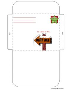 Printable Santa letter envelopes that come with the