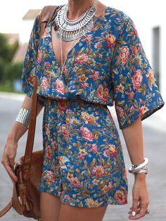 Love the vibrant floral print~<3