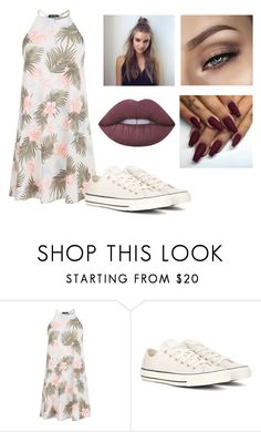 """Untitled #80"" by marija-jozic on Polyvore featuring New Look, Converse, Floyd and Lime Crime"