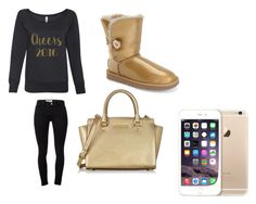 """""""Cheers 2016"""" by starbucks-is-bae123 ❤ liked on Polyvore featuring Frame Denim, UGG Australia and Michael Kors"""