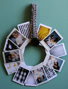 Instant Photo Wreath