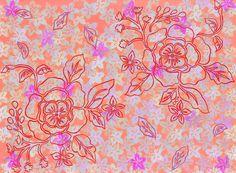 Primavera #spring #flowers #pattern